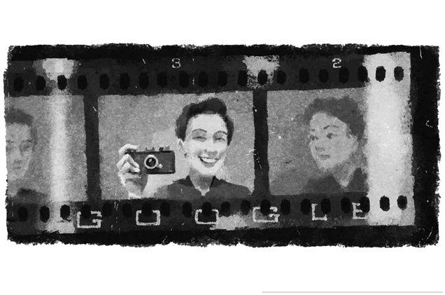 best sneakers 48ffc 37a23 Google Doodle of Gerda Taro.